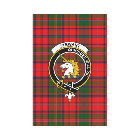 ScottishShop Garden Flag - Tartan Stewart Of Appin Flag  Clan Badge