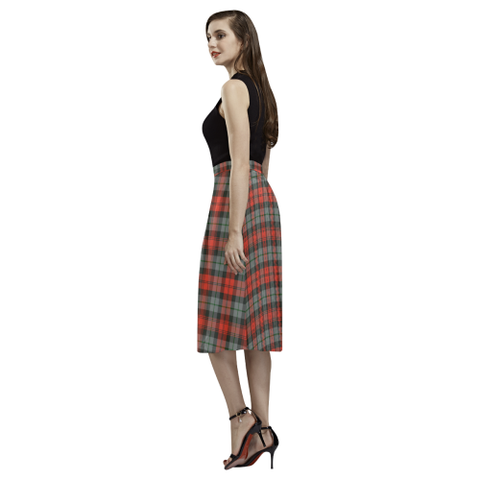 Image of Tartan Crepe Skirt - MacLachlan Weathered Skirt For Women