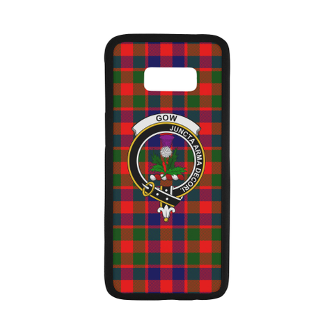 Gow Of Skeoch Tartan Clan Badge Rubber Phone Case