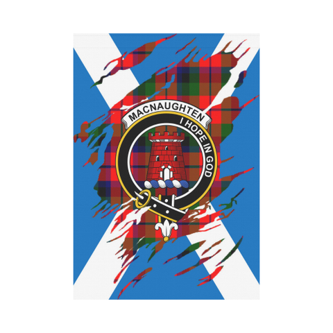 ScottishShop Garden Flag - Tartan Macnaughten Lives In Me Flag