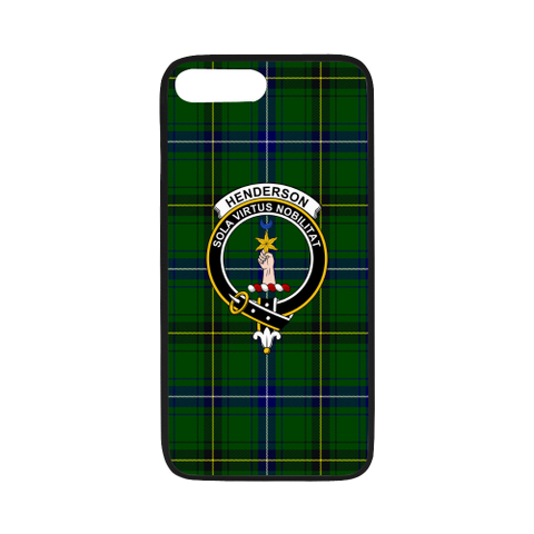 Image of Henderson Tartan Clan Badge Rubber Phone Case