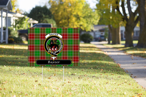 ScottishShop Baxter Yard Sign - Tartan Crest Yard Sign