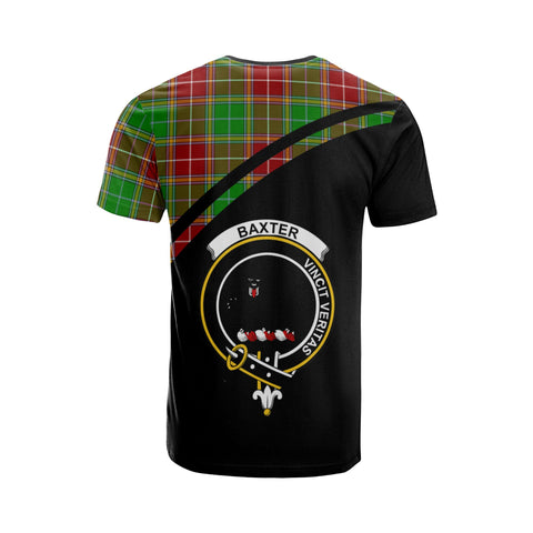 Tartan Shirt - Baxter Clan Tartan Plaid T-Shirt Curve Version Back