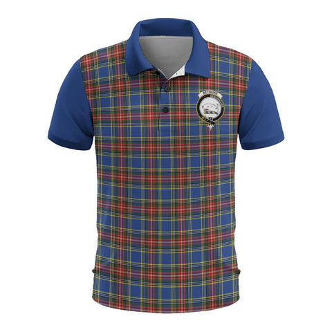 Tartan Polo - Bethune Plaid Mens Polo Shirt - Clan Crest