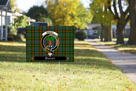 ScottishShop Bisset Yard Sign - Tartan Crest Yard Sign