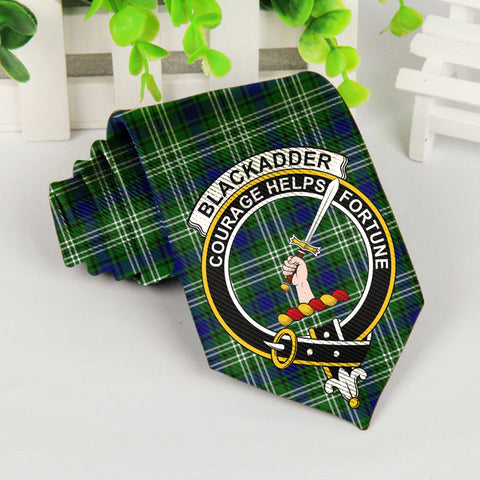 Blackadder Tartan Tie with Clan Crest TH8