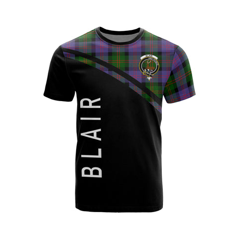 Tartan Shirt - Blair Clan Tartan Plaid T-Shirt Curve Version Front