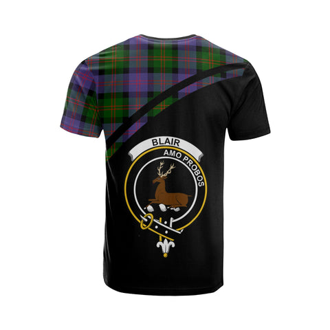 Tartan Shirt - Blair Clan Tartan Plaid T-Shirt Curve Version Back