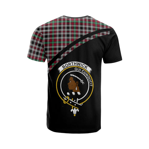 Image of Tartan Shirt - Borthwick Clan Tartan Plaid T-Shirt Curve Version Back