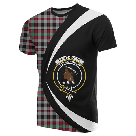 Image of Borthwick Ancient Tartan T-shirt Circle