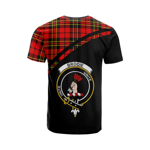 Tartan Shirt - Brodie Clan Tartan Plaid T-Shirt Curve Version Back