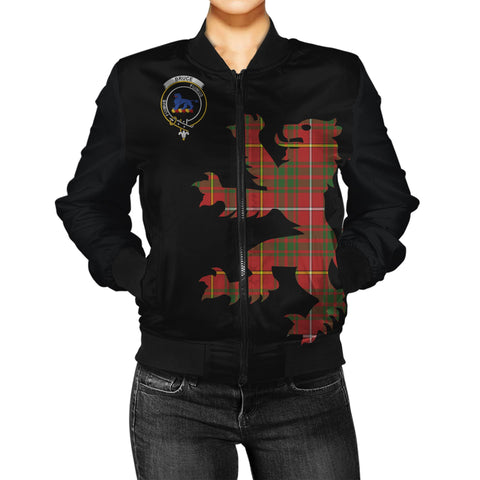 Image of Tartan Bomber Jacket - Bruce Tartan Lion & Thistle Women Jacket