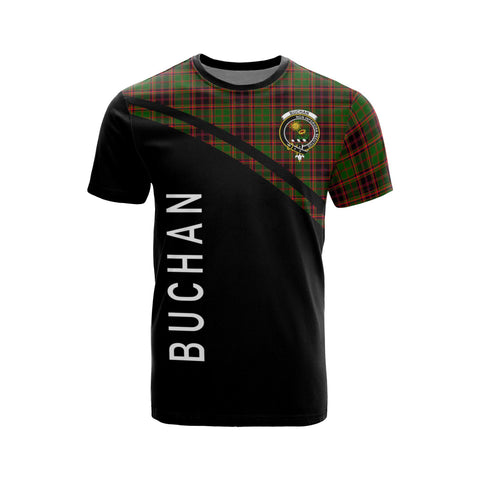 Tartan Shirt - Buchan Clan Tartan Plaid T-Shirt Curve Version Front