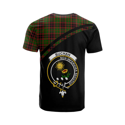 Tartan Shirt - Buchan Clan Tartan Plaid T-Shirt Curve Version Back