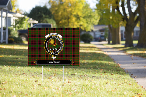 ScottishShop Buchan Yard Sign - Tartan Crest Yard Sign