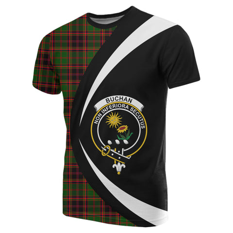 Image of Buchan Modern Tartan T-shirt Circle