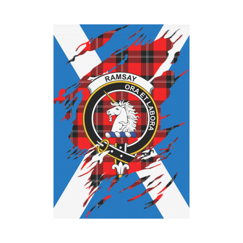ScottishShop Garden Flag - Tartan Ramsay Lives In Me Flag