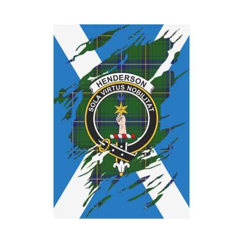Garden Flag | Tartan Henderson Lives In Me Flag | 2 Sizes