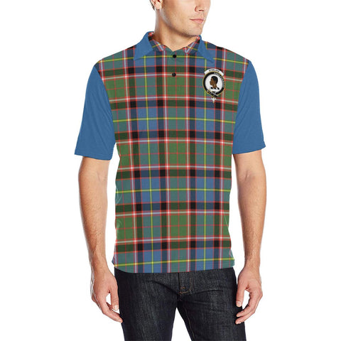 Tartan Polo - Stirling (of Keir) Plaid Mens Polo Shirt - Clan Crest