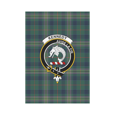 Image of Garden Flag | Tartan Kennedy Modern Flag | 2 Sizes Clan Badge