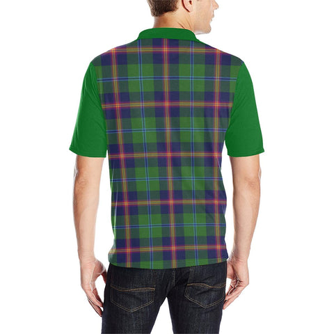 Image of Tartan Polo - Young Plaid Mens Polo Shirt - Clan Crest