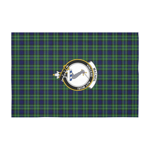 MacNeil of Colonsay Crest Tartan Tablecloth | Home Decor