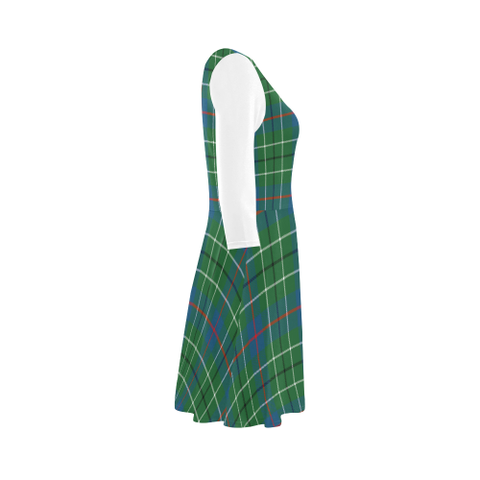 Duncan Ancient Tartan 3/4 Sleeve Sundress | Exclusive Over 500 Clans