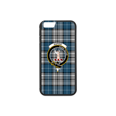 Napier Tartan Clan Badge Rubber Phone Case