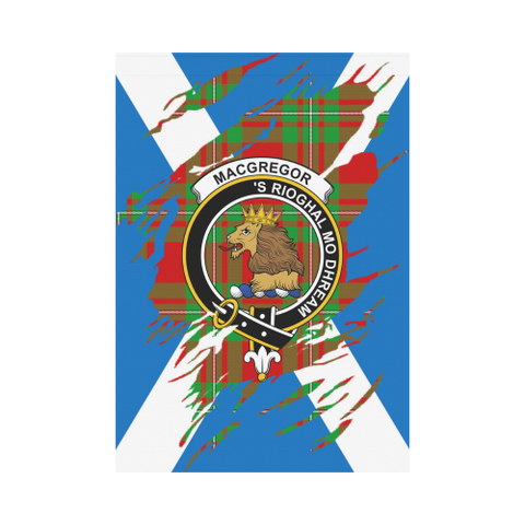 ScottishShop Garden Flag - Tartan Macgregor Lives In Me Flag