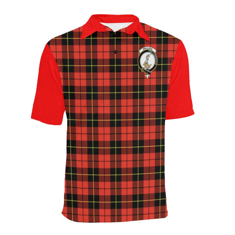Image of Tartan Polo - Wallace Plaid Mens Polo Shirt - Clan Crest