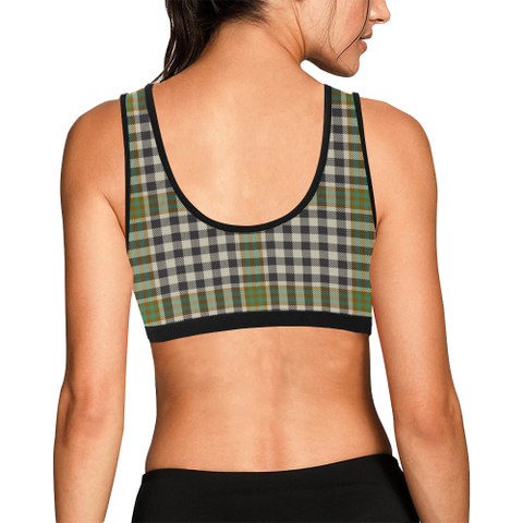 Image of Burns Check Tartan Bra - Tartan Sport Bra