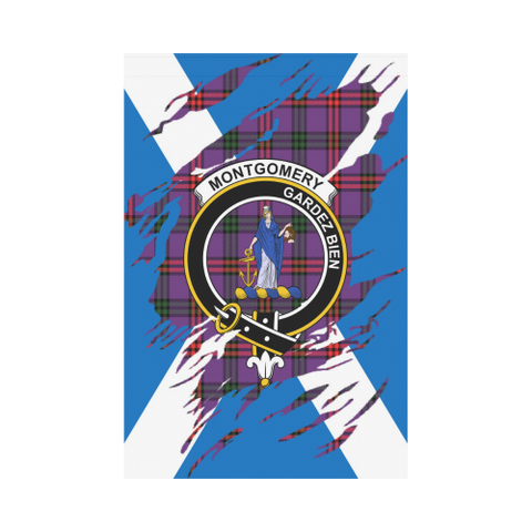Garden Flag | Tartan Montgomery Lives In Me Flag | 2 Sizes