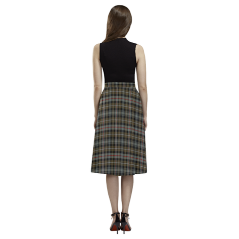 Tartan Crepe Skirt - MacKenzie Weathered Skirt For Women