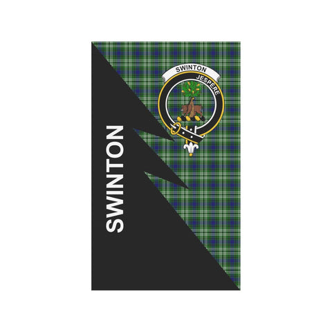 Garden Flag - Clan Swinton Plaid & Crest Tartan Flag - 3 Sizes - Flash Style