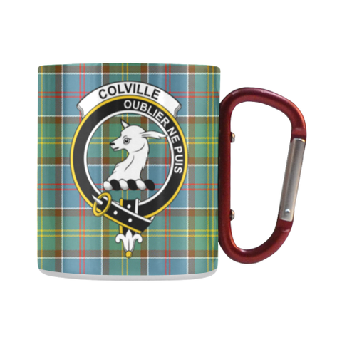 Colville District Tartan Mug Classic Insulated - Clan Badge