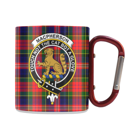 Image of Macpherson Modern Tartan Mug Classic Insulated - Clan Badge