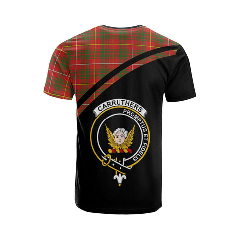 Tartan Shirt - Carruthers Clan Tartan Plaid T-Shirt Curve Version Back