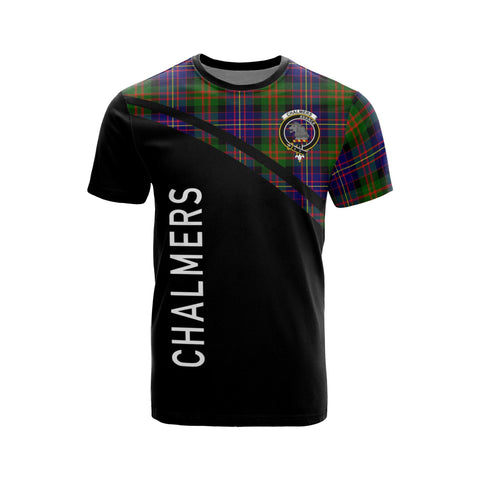 Tartan Shirt - Chalmers Clan Tartan Plaid T-Shirt Curve Version Front