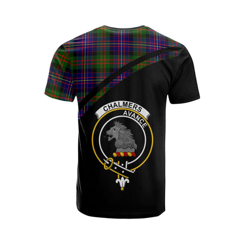 Tartan Shirt - Chalmers Clan Tartan Plaid T-Shirt Curve Version Back