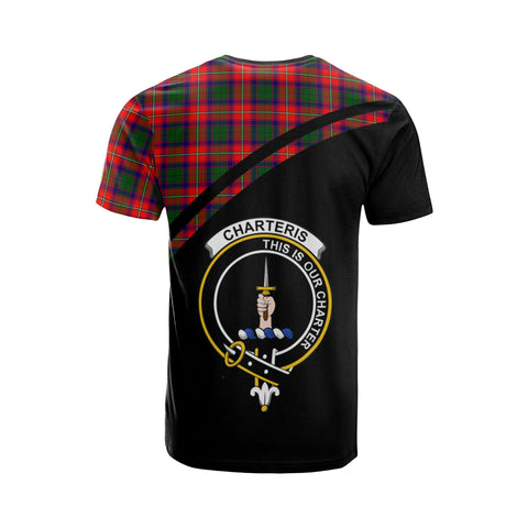 Tartan Shirt - Charteris (Earl of Wemyss) Clan Tartan Plaid T-Shirt Curve Version Back