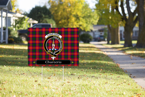 ScottishShop Charteris (Earl of Wemyss) Yard Sign - Tartan Crest Yard Sign
