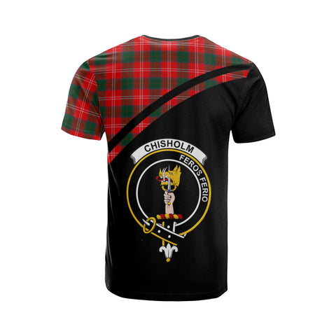 Tartan Shirt - Chisholm Clan Tartan Plaid T-Shirt Curve Version Back