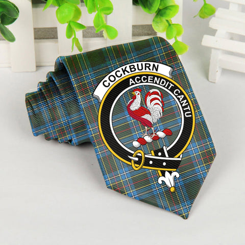 Image of ScottishShop Tartan Necktie - Cockburn Tartan Tie Clan Crest
