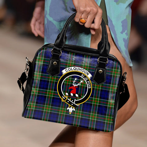 Colquhoun Modern Tartan Clan Shoulder Handbag | Special Custom Design