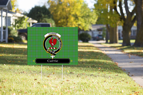 ScottishShop Currie Yard Sign - Tartan Crest Yard Sign