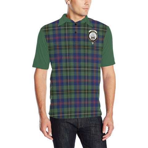 Image of Tartan Polo - Wood Plaid Mens Polo Shirt - Clan Crest
