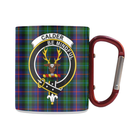 Calder Modern  Tartan Mug Classic Insulated - Clan Badge