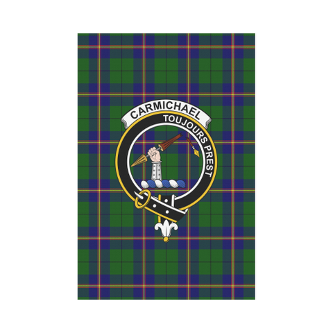 Garden Flag | Tartan Carmichael Modern Flag | 2 Sizes Clan Badge