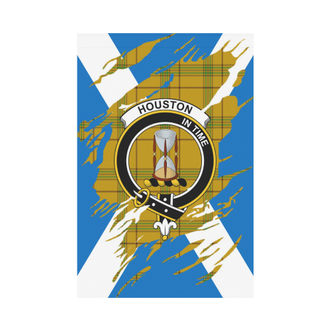 ScottishShop Garden Flag - Tartan Houston Lives In Me Flag