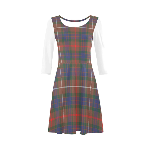 Fraser Hunting Modern Tartan 3/4 Sleeve Sundress | Exclusive Over 500 Clans